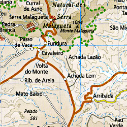 Cape Verde Islands Road and Topographic Tourist Map.