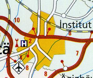 Caucasus Road and Topographic Tourist Map.