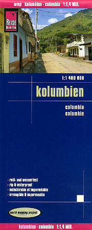 Colombia Road and Topographic Tourist Map.