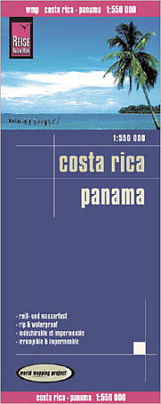 Costa Rica and Panama Road and Topographic Tourist Map.