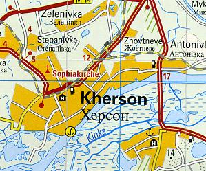 Crimea Road and Topographic Tourist Map.
