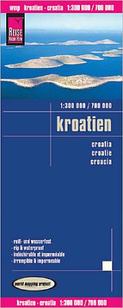 Croatia, Road and Topographic Tourist Map.