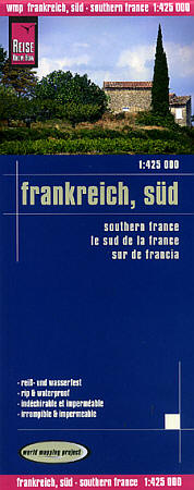 France, SOUTH, Road and Topographic Tourist Map.