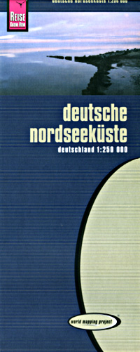 Germany, Northwest and North Sea Coast, Road and Topographic Tourist Map.