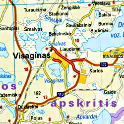 Latvia Road and Topographic Tourist Map.