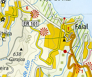 Madeira Road and Topographic Tourist Map, Portugal.