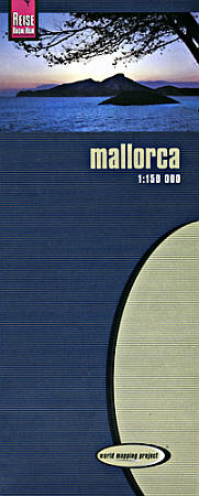 Mallorca Road and Topographic Tourist Map, Balearic Isles, Spain.