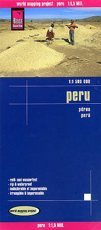 Peru Road and Topographic Tourist Map.