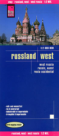 Russia, Western, Road and Topographic Tourist Map.