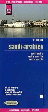 Saudi Arabia, Road and Topographic Tourist Map.