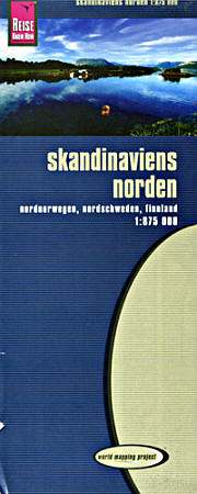 Scandinavia North Road and Topographic Tourist Map.