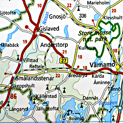 Scandinavia South (Sweden & Norway) Road and Topographic Tourist Map.