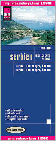 Serbia and Montenegro, Road and Topographic Tourist Map.