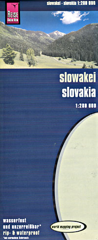 Slovak Republic, Road and Topographic Tourist Map.