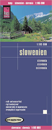 Slovenia, Road and Topographic Tourist Map.