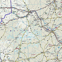 South Africa Road and Topographic Tourist Map.