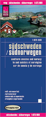 Southern Sweden and Norway Road and Topographic Tourist Map.