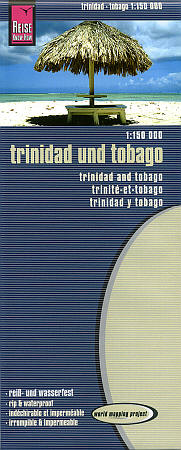 Trinidad and Tobago Road and Topographic Tourist Map.