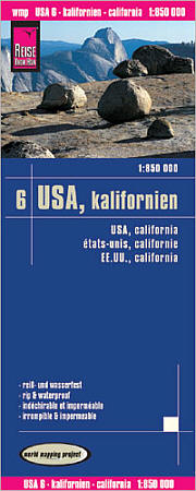 California Road and Topographic Tourist Map.