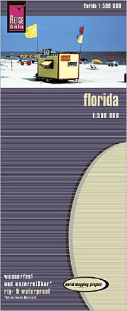 Florida Road and Topographic Tourist Map.