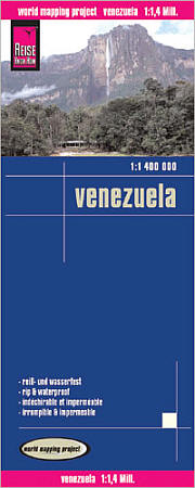Venezuela Road and Topographic Tourist Map.