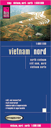 Vietnam North Road and Topographic Tourist Map.