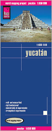 Yucatan Road and Topographic Tourist Map.