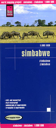 Zimbabwe Road and Topographic Tourist Map.