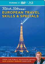 Rick Steves' Europe: Travel Skills & Specials Blu-ray + DVD.