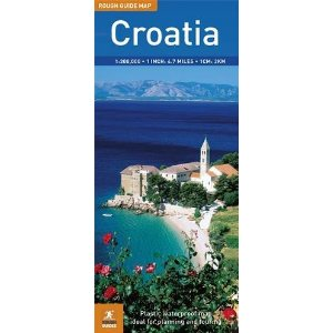 Croatia Road and Shaded Relief Tourist Map.