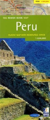 Peru Road and Physical Tourist Map.