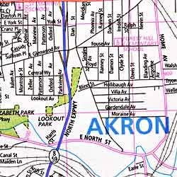 Akron, Ohio, America.