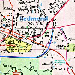 Bellevue, Redmond and Kirkland, Washington, America.