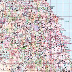 Illinois WALL Map, America.
