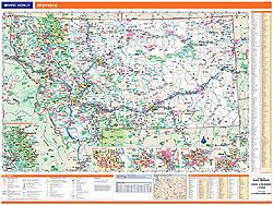 Montana WALL Map, America.