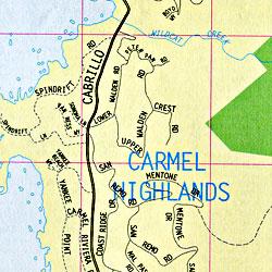 Carmel, Monterey and Salinas, California, America.