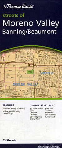 Moreno Valley, Banning and Beaumont, California, America.