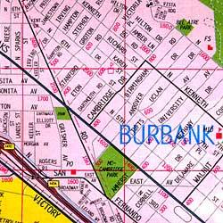 Burbank, Glendale and the San Fernando Valley, California, America.