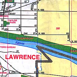 Topeka and Lawrence, Kansas, America.