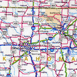 """United States """"Interstate Highways"""" Road and Tourist Map."""