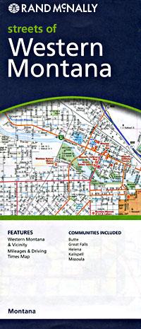 "Great Falls, Butte, Helena, Kalispell and Missoula, ""WESTERN"" Montana City Street Maps, Montana, America."