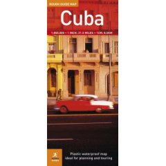 Cuba Road and Physical Tourist Map.