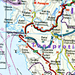 Greece Road and Physical Tourist Map.