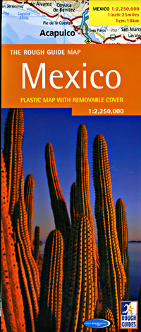 Mexico Road and Physical Tourist Road Map.
