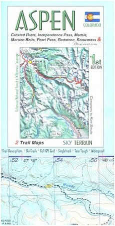 Aspen and Crested Butte Hiking Map.