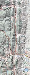 Boulder and Nederland Hiking Map.