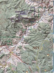 Buffalo Creek Hiking Map.