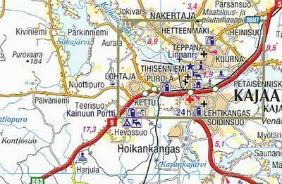 Finland Tourist Road ATLAS (Suomi V?gatlas).