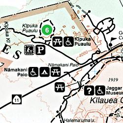 Hawaii Volcanoes National Park, Road and Topographic Recreation Map, Hawaii, The Big Island, Hawaii State, America.