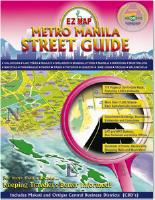 MANILA City Street Atlas, Philippines.